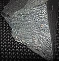 Chlorite schist (Neoarchean; Soudan Mine, Soudan, Minnesota, USA) 2 (22474227225).jpg