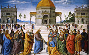 Christ Handing the Keys to St. Peter by Pietro Perugino