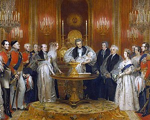 Lily Font - The Lily Font at the christening of Victoria, Princess Royal in 1841