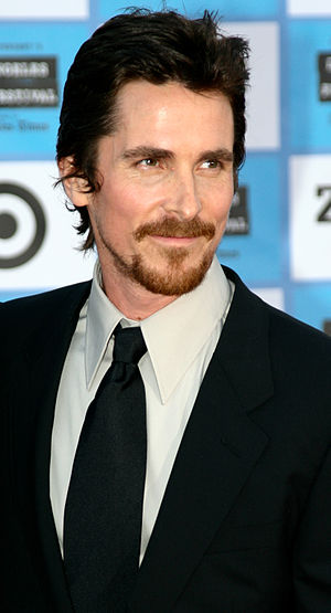 Christian Bale at the red carpet film premiere...