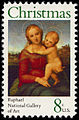 Christmas - Raphael The Small Cowper Madonna 8c 1973 issue U.S. stamp.jpg