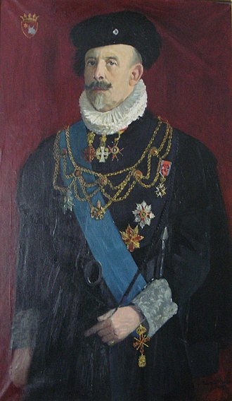 Chamberlain (office) - Christopher Count of Paus: appointed papal chamberlain by Pope Benedict XV in 1921. Painting in Spanish Renaissance style.