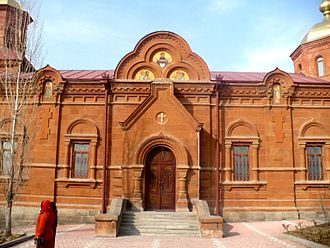 Church of the Intercession of the Holy Mother of God - Image: Church Pokrova Presvyatoy Bogorodici Yerevan ext 1