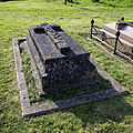 Church of St Mary and St Christopher, Panfield - stone grave monument.jpg