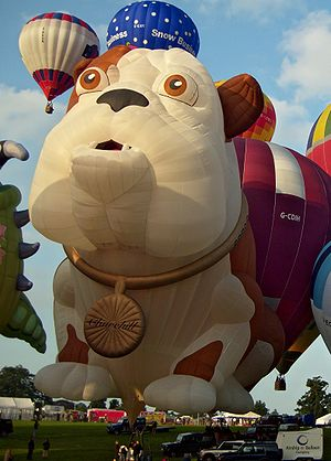 Churchill Insurance - Churchill Dog hot air balloon, at Bristol International Balloon Fiesta.