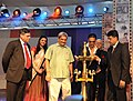 Cinestar Akshay Kumar lighting the lamp to inaugurate the 43rd International Film Festival of India (IFFI-2012), in Panaji, Goa. The Governor of Goa, Shri Bharat Vir Wanchoo.jpg
