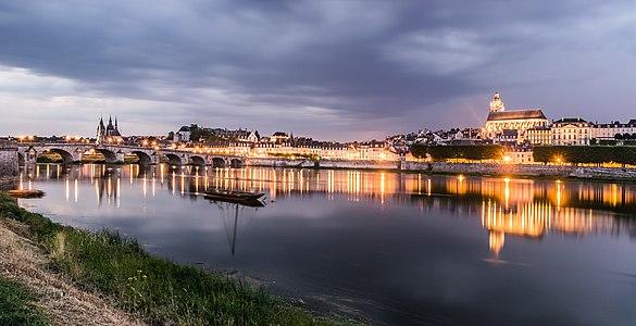 Cityscape of Blois, Loir-et-Cher, France