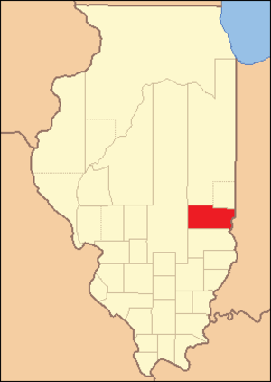 Clark County, Illinois - Image: Clark County Illinois 1823
