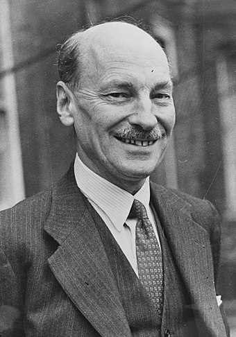 July 26 - Clement Attlee became British Prime Minister. Clement Attlee.jpg
