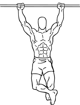 Pull-up (exercise) - Climbers' pull-up start