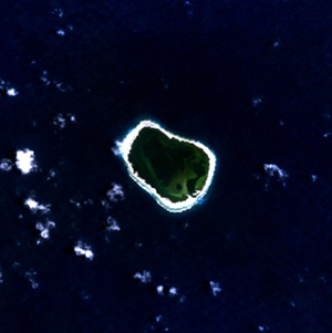Clipperton Island - NASA NLT Landsat 7 (Visible Color) Satellite Image