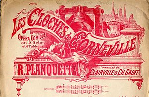 Les cloches de Corneville - Sheet music cover