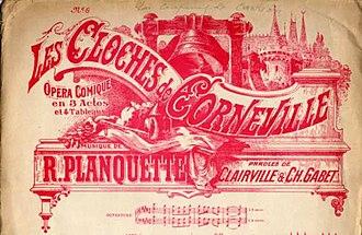 Les cloches de Corneville - Sheet music cover