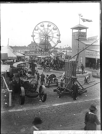 Sydney Royal Easter Show - The Clyde Engineering Pavilion at the Royal Easter Show, circa 1900