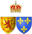 Coat of arms of Madeleine of Valois as Queen consort of Scots.png