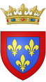 Coat of arms of the Duke of Anjou with crown.png