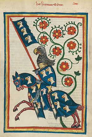 Der arme Heinrich - Hartmann von Aue (notional portrait from the Codex Manesse, circa 1300)