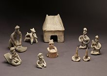 Colima - Group of Figurines and Architectural Model - Walters 20092033 - Group.jpg
