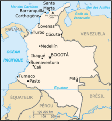 Description de l'image Colombie carte.png.