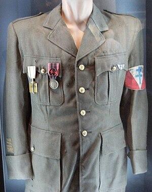 Émile Coulaudon - Coulaudon's army uniform, Museum of the Resistance, Mont Mouchet.