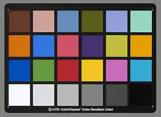 Color balance - Photograph of a ColorChecker as a reference shot for color balance adjustments.