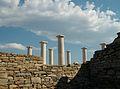 Columnes de la casa de Dionís des de l'exterior.JPG