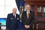 Commander Darrell Nelson from the Nebraska Wing Civil Air Patrol and Congressman Brad Ashford.jpg