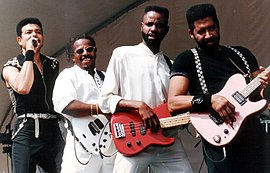 The Commodores performing in Hallandale, Florida