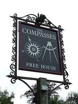 Compasses pub sign - geograph.org.uk - 925808