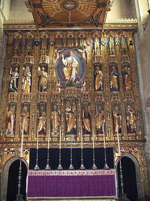 Ninian Comper - Reredos in Wymondham Abbey, designed by Comper