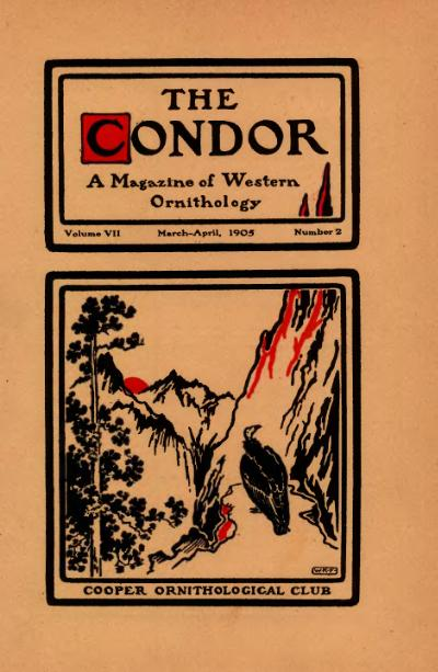 The Condonor, A Magazine of Western Ornithology, Volume VII, March-April, 1905, Number 2