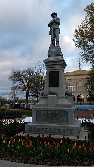 United Daughters of the Confederacy - Monument dedicated by the UDC on August 8, 1908