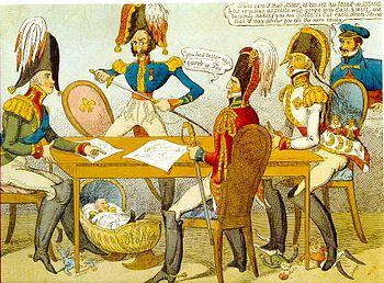 Caricature contemporaine pour le Congrès de Vérone