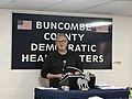 Congressional candidate Moe Davis speaks at Buncombe County, NC Democratic Headquarters, January 2020.jpg