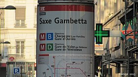 Image illustrative de l'article Station Saxe - Gambetta