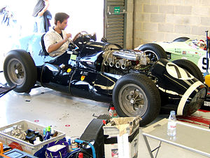 Rob Walker Racing Team - Rob Walker Racing A Type Connaught, the first RWR car, being tuned in the pits.