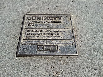 Contact II - Image: Contact II plaque, Portland, 2015