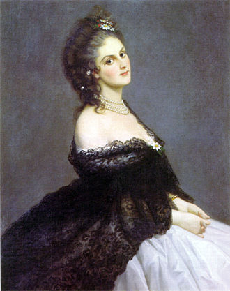 La Spezia - Virginia Oldoini, Countess of Castiglione, 1862.
