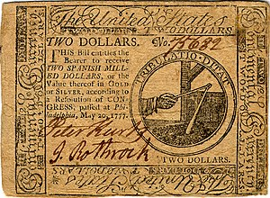 Continental Currency $2 banknote obverse (May 20, 1777).jpg