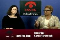 File:Cook Co. Recorder Karen Yarbrough - CAN TV's Political Forum.webm