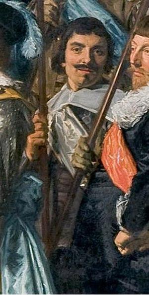 Cornelis Coning - Image: Cornelis Coning detail of schutterstuk by Frans Hals 1639