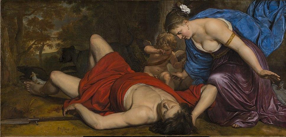 Cornelis Holsteyn - Venus and Amor Mourning the Death of Adonis - WGA11631