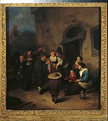 Street Musicians before an Inn