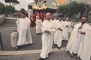 Order of Saint Paul the First Hermit - The Pauline monks in procession for Corpus Christ at Parrocchia Santi Urbano e Lorenzo a Prima Porta,