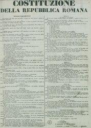 Italiano: Costituzione della Repubblica Romana, 1° luglio 1849