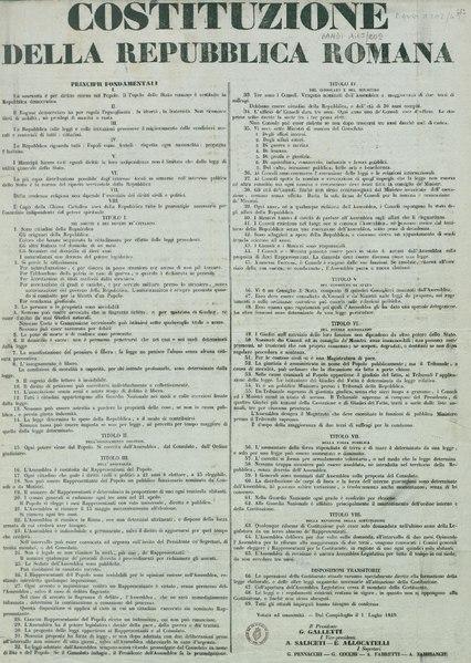 File:Costituzione della Repubblica Romana 1° luglio 1849.pdf