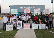 Students of the Florida International University.