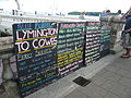 Cowes Week 2010 harbour cruise and ferry service notices.JPG