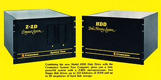 Cromemco Z-2 - Cromemco Z-2D computer with optional HDD hard disk drive providing up to 22 megabytes of storage (1980)