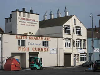 Traditional Grimsby smoked fish regionally processed fish food products from the British fishing town of Grimsby, England